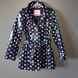 Justice Hooded Polkadot Raincoat
